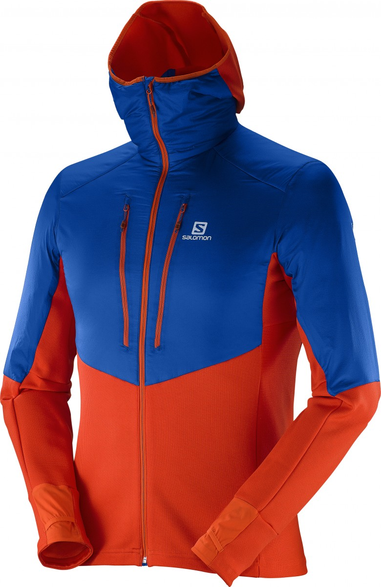 Drifter Air Mid Hoodie - blau/orange / Bild: Salomon