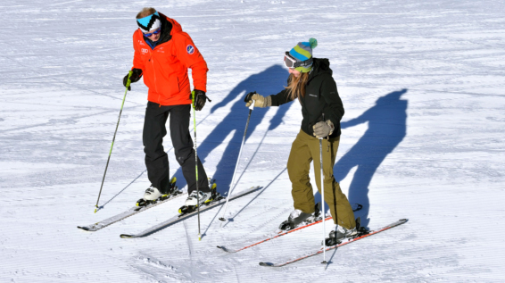 Anfänger auf die piste skifahren lernen leicht gemacht