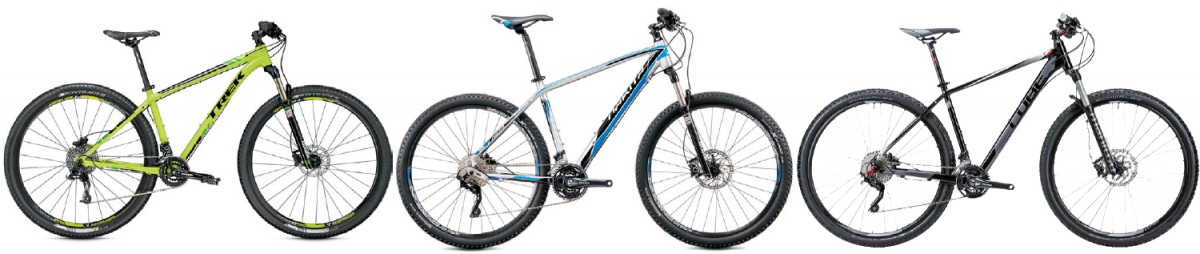 Im Schaufenster: 3 Hardtail Mountainbikes MTB