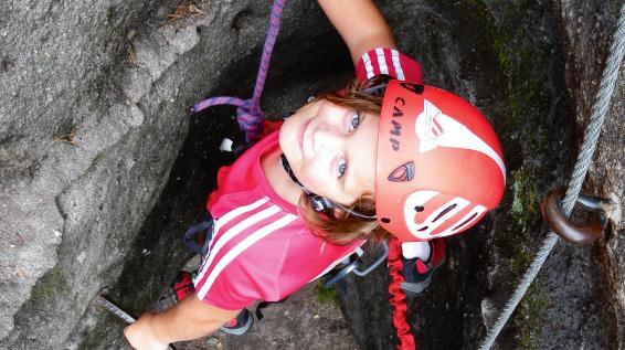 Klettersteigset Kind : Ferrata kids mit den kindern am klettersteig sportaktiv
