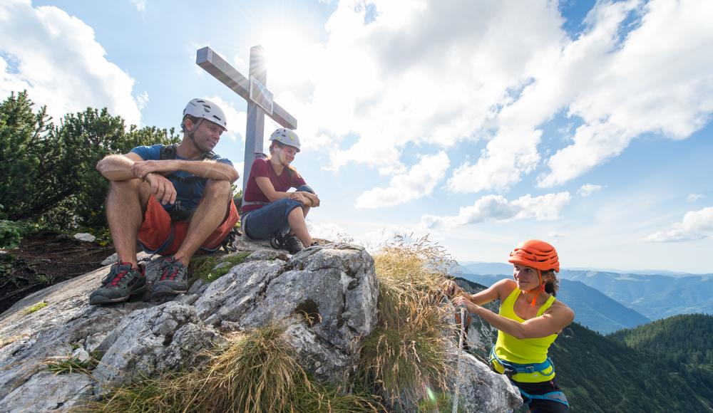 Klettersteig Niederösterreich : Heli kraft klettersteig am hochkar