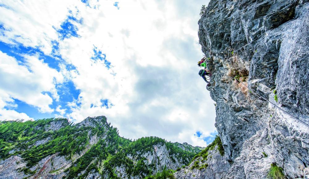 Klettersteig Griffen : Übersteil am stahlseil: wie viel schwierigkeit ist klettersteig