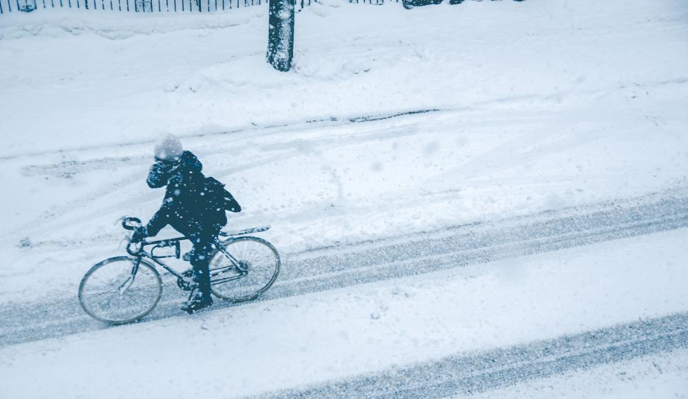 Winter-Bike-Lagerung