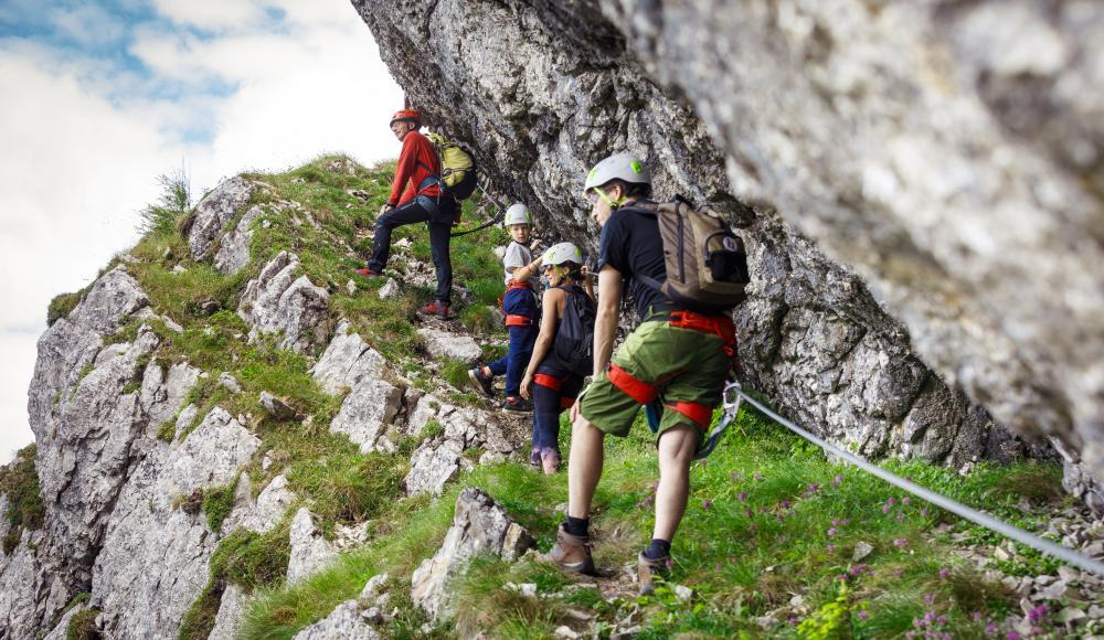 Klettersteig Ybbstaler Alpen : Das klettersteig schnuppercamp für familien einsteiger