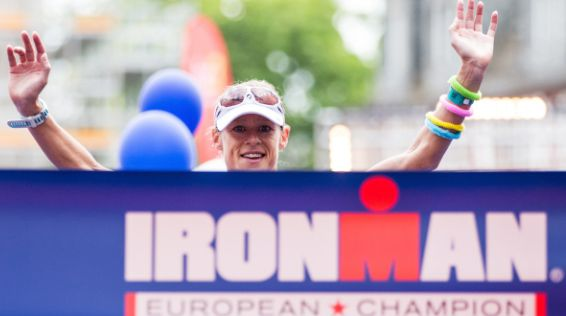 Corinne Abraham bei der Ironman EM in Frankfurt / Bild: Simon Hofmann / Getty Images for Ironman